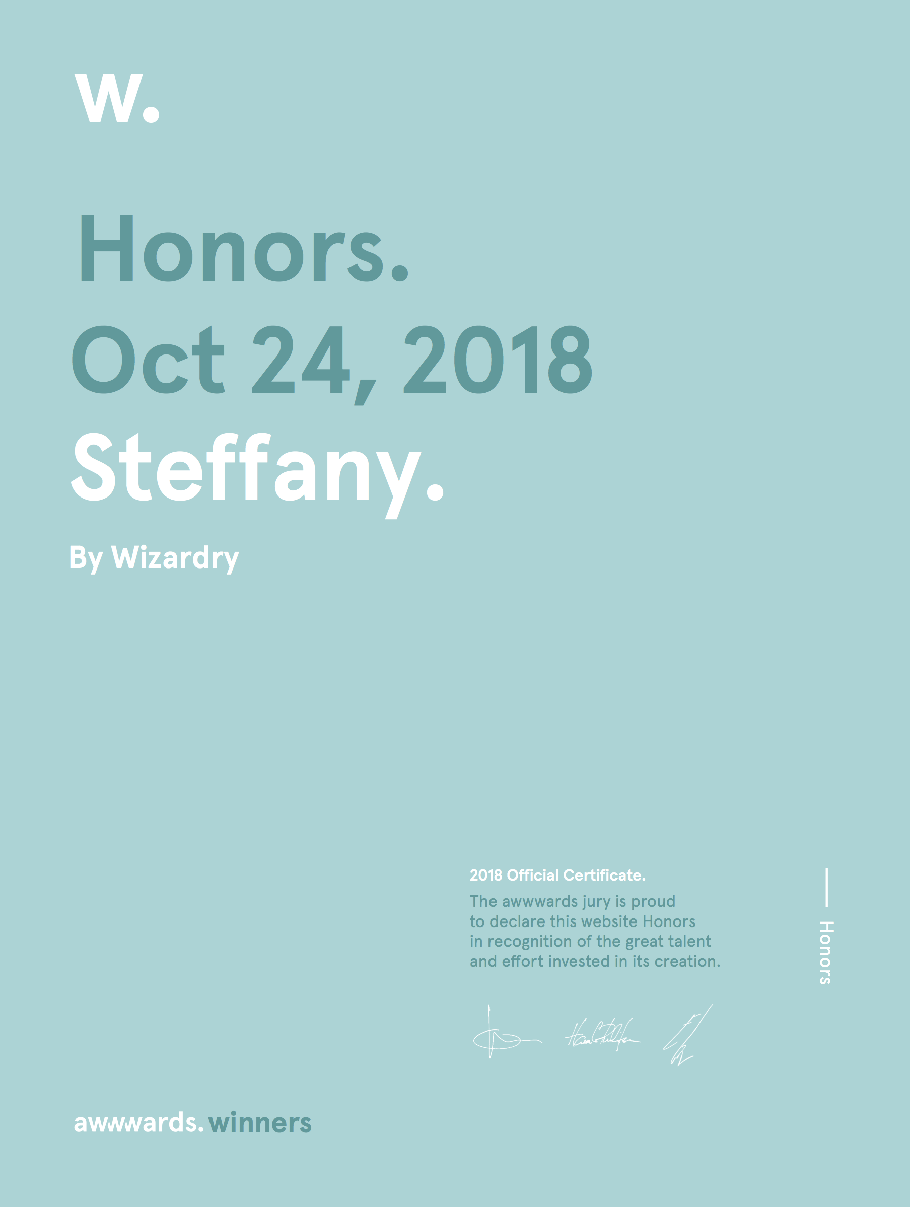 Wizardry awwwards hm steffany